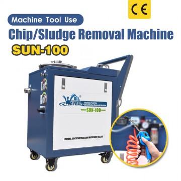 SUN-100工作機械を使用するチップ/汚泥除去機