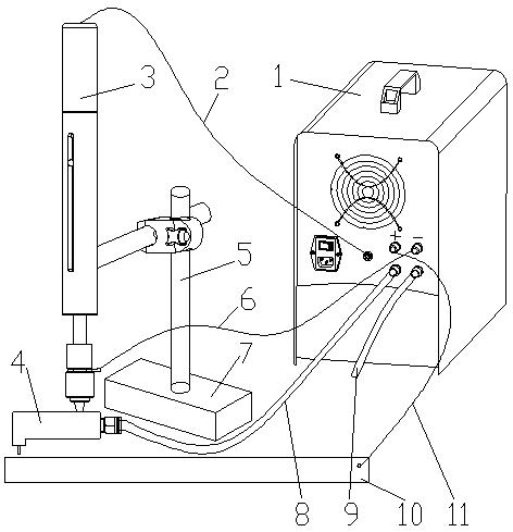 風ブレーキキャリパーの油穴の処理でポータブルEDMの応用(2)